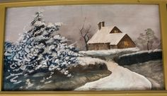 House In the Snow    The following outer rounding board paintings are professionally restored paintings originally placed in 1910 for the Silver Beach Fred Dolle Carousel in St. Joseph, Michigan. They were painted by German immigrant, August Wolfinger. They were restored during the period of 2007-2008, by Denver based fine artist and professional restorer, Eddie Friedman, now deceased.