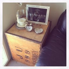 Picked up this lovely old tea chest from my husbands Nan. Have cleaned up and now using as a side table. www.mrsnargarandco.com
