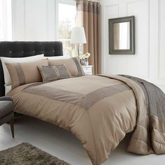 Pearl Duvet and Standard Pillowcase Set   Stylish bedlinen available in three colours, featuring crinkled pintuck border trim detail. Duvet set comprises of duvet cover and pillowcase(s), one with the single and two with the double, king and super king. #Kaleidoscope #Bedding #Bedroom #Style #Inspiration #home www.kaleidoscope.co.uk