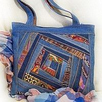 This is fabulous! Denim Purse, Denim Crafts, Diy Handbag, Recycle Jeans, Recycled Denim, Purse Patterns, Clothes Crafts, Fabric Bags, Quilted Bag