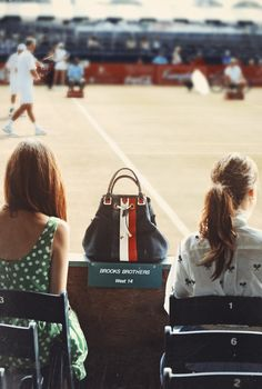 perfectly preppy & summery (Classy Girls Wear Pearls: Tennis Hall of Fame - Brooks Brothers Lunch with the Legends)
