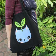 Superb Plant Kitty Tote Bag