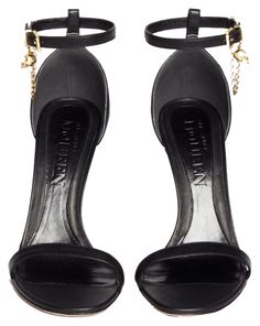 c51a18157c3 Alexander McQueen Black Skull Charm Chain Leather Sandals Size US 10  Regular (M, B) 62% off retail