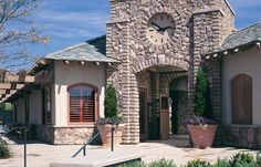 Country Rubble brings to mind provincial stone types of Europe where the architecture is a reflection of a simpler way of life. Rough-faced stones from Eldorado Stone, Manufactured Stone Veneer, Exterior Paint, Design Process, Service Design, Countryside, Beautiful Homes, Brick, Rustic