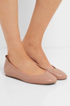 Lanvin - Glossed-leather Ballet Flats - Blush - IT37.5