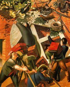 The Boatbuilder's Yard, 1936 - Stanley Spencer - WikiArt.org
