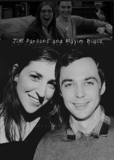 Mayim Bailik and Jim Parsons. Amy and Sheldon (Shamy). Big Bang Theory Show, Big Bang Theory Funny, The Big Band Theory, Sheldon Amy, Chuck Lorre, Amy Farrah Fowler, Johnny Galecki, Melissa Rauch, Mayim Bialik