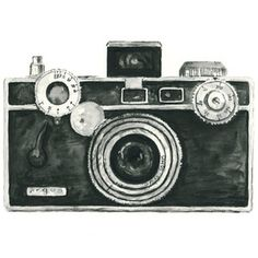 Vintage Camera Watercolor Giclee Art Print ARGUS 8X10