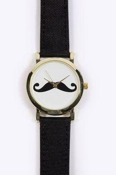 Movember Style | moustache watch | moustache fashion | moustache watch