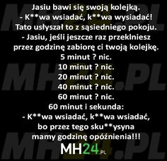 Jasiu bawi się swoją kolejką – MH24.PL – Demotywatory, Memy, Śmieszne obrazki i teksty, Filmiki, Kawały, Dowcipy, Humor Very Funny Memes, Wtf Funny, Weekend Humor, Funny Mems, Text Memes, Mood Songs, Good Jokes, Life Humor, Funny Comics