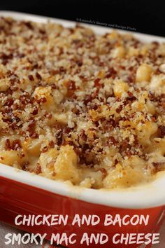Chicken Bacon Smoky Mac and Cheese / myfindsonline.com