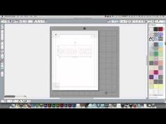 Text printed within a cut shape for a print and cut on a Silhouette Cameo - YouTube