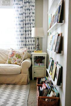 blog de decoração - Arquitrecos: Organizando com prateleiras rasas - Post 01: Livros