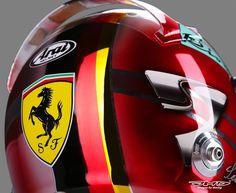 Sebastian Vettel Scuderia Ferrari SF16-H Helmet Design Spanish Grand Prix 2016