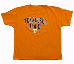 Cool item: Tennessee Dad Men's T Shirt Size XXL College T Shirts, University Of Tennessee, Tennessee Volunteers, Cool Items, Dads, Sleeves, How To Wear, Fathers, Cap Sleeves