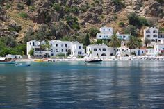 """Our Unique #Porto #Loutro :   """"There is nowhere else like it in #Crete and having traveled in search of wonderful and heart-warming places, I have not found any equal to Loutro....the view from the hotel terrace bar is one of the best in the world, of this I'm sure.""""   http://www.crete-hotels-rooms.com/Reservations/Porto_Loutro.htm"""