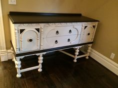 Java Gel Stain and Linen Milk Paint. Redone by rescuedfurnishings.com @Heather Rheault Finishes Pinterest