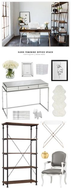 Copy Cat Chic Room Redo | Sleek Feminine Office Space | Copy Cat Chic…