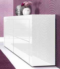 Kommode, Breite 110 cm für 329,99€. 4 Türen, Hochglanz, Push to Open, In verschiedenen Farben, Made in Germany bei OTTO