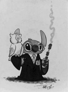 Stitch em hogwarts