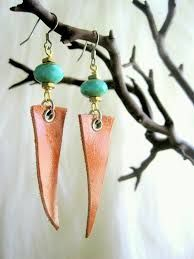 Items similar to Unique Handcrafted Leather Jewelry Feather Earrings Faceted Turquoise Glass RondelleHoliday Sale Holiday Sale on Etsy – Handcrafted Jewelry Jewelry Model, Boho Jewelry, Jewelry Crafts, Beaded Jewelry, Jewelry Design, Jewelry Ideas, Feather Earrings, Diy Earrings, Earrings Handmade