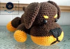 Little Rottie - free crochet pattern