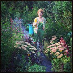Dressed for gardening