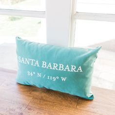 Santa Barbara Latitude / Longitude Pillow
