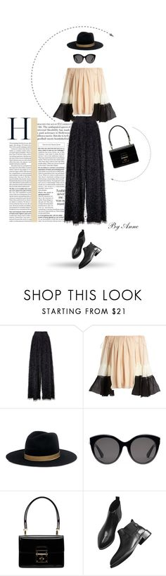 """In the city"" by anne-977 ❤ liked on Polyvore featuring Brunello Cucinelli, Chloé, Janessa Leone, Gucci and Dolce&Gabbana"