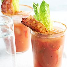 Add a bloody mary onto the menu for your brunch party, or pair it with a delicious grilled hamburger. Our recipes showcase the traditional bloody mary recipe or switch it up with new ideas such as a bacon bloody mary.