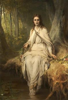 .:. Thomas Francis Dicksee Ophelia, 1873. Rochdale Arts & Heritage Service / Supplied by The Public Catalogue Foundation