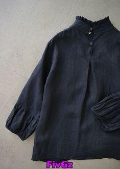 Use cutting line swing set jacket pattern to do something like this Mori Fashion, Magnolia Pearl, Yohji Yamamoto, Japan Fashion, Linen Dresses, Fashion Outfits, Womens Fashion, Shirt Blouses, Cute Outfits