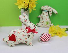 Set of 2 Handmade Easter Bunnies Easter Decoration Main Colors, Easter Bunny, Dinosaur Stuffed Animal, My Etsy Shop, Bunnies, Christmas Ornaments, Toys, Holiday Decor, Handmade Gifts