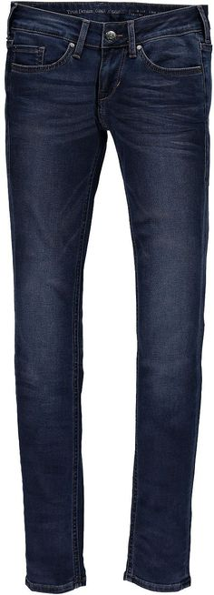 Junge, schmal geschnittene 5- Pocket Jeans mit niedriger Leibhöhe und eng verlaufendem Bein. Die Hose hat dezente Used- Effekte und leichte 3D Sitzfalten. Reißverschluss. 66 % Baumwolle, 20 % Polyester, 11 % Viskose, 3 % Elasthan....