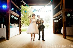 Reception Entrance Bride and Groom  - Timeless Wedding Photographer - Sassy Mouth