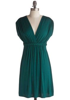 Closet Braid Dress in Deep Jade. This item is a new colorway of one of your favorite Be the Buyer picks and will be sold exclusively online at ModCloth! #green #modcloth