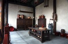 Old Chinese kitchen.