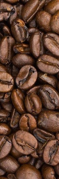 La textura de los granos de café