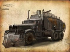 Post-Apocalyptical Transport Truck