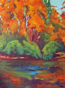 "Autumn`s song by Angela Van Every Acrylic ~ 48"" x 36"""