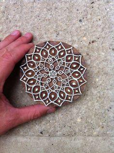 Mandala design block print 2 by QueenAndSwan on Etsy, $27.50