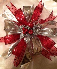 Esferas para navidad originales crafts pinterest - Lazos para arbol de navidad ...