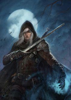 Shadowy swordsman