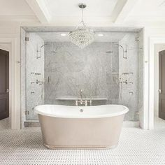 Walk In Shower for Two with His and Hers Shower Heads, Transitional, Bathroom