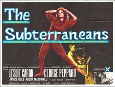 The Subterraneans movie poster (very 'loosely' based on Kerouac book)
