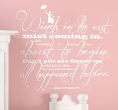 Mary Poppins Quote Wall Sticker