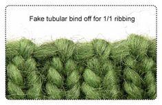 fake tubular 1/1 bind off picture COPYRIGHT