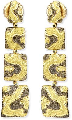 Alex Soldier Cora Dangle Earrings with Black Diamonds on shopstyle.com