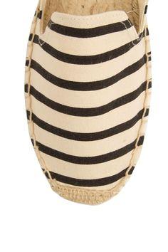 Espadilles Classic Stripe | zwart-creme