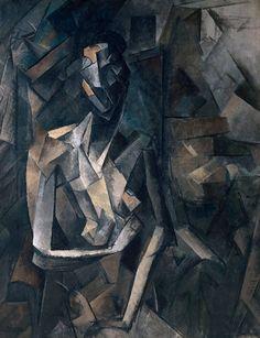 Pablo Picasso, 1909-10, Figure dans un Fauteuil (Seated Nude, Femme nue assise), oil on canvas, 92.1 x 73 cm, Tate Modern, London 1045027_495767847171797_1585271721_n.jpg (737×960)